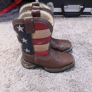 Boys Durango Rebel American Flag boots.